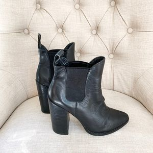Steve Madden leather heeled bootie